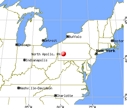 North Apollo, Pennsylvania map