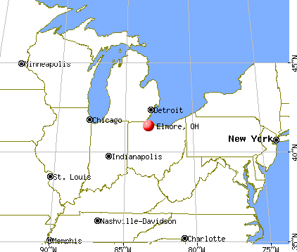 Elmore, Ohio map