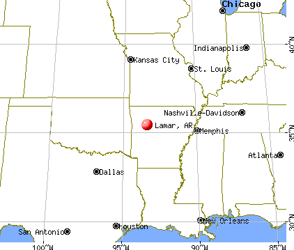 Lamar, Arkansas map