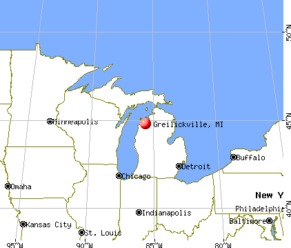 Greilickville, Michigan map