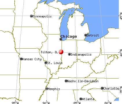 Tilton, Illinois map