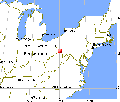 North Charleroi, Pennsylvania map
