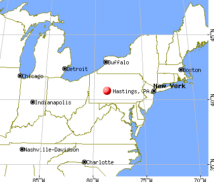 Hastings, Pennsylvania map