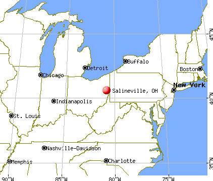 Salineville, Ohio map