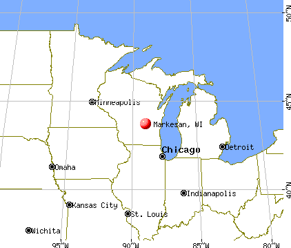 Markesan, Wisconsin map