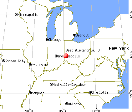 West Alexandria, Ohio map