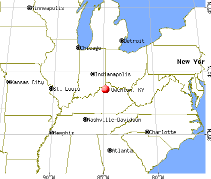 Owenton, Kentucky map