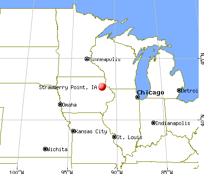 Strawberry Point, Iowa map