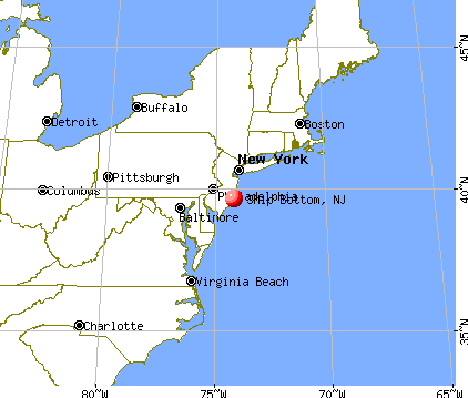 Ship Bottom, New Jersey map