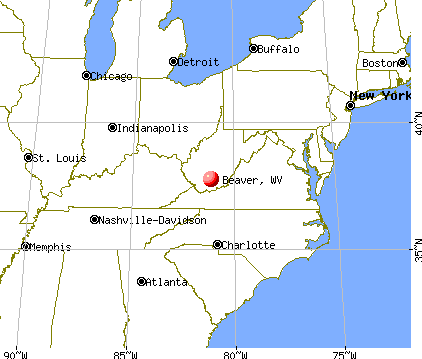 Beaver, West Virginia map