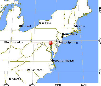 Jarrettsville, Maryland map