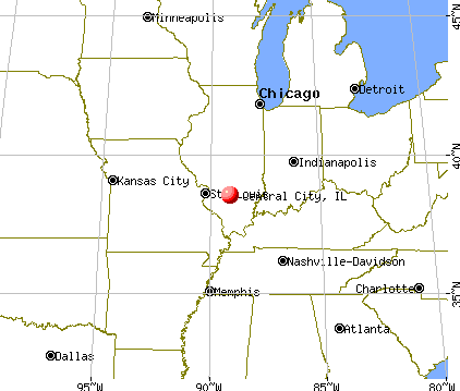 Central City, Illinois map