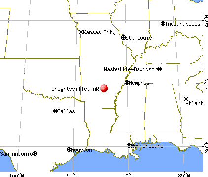 Wrightsville, Arkansas map