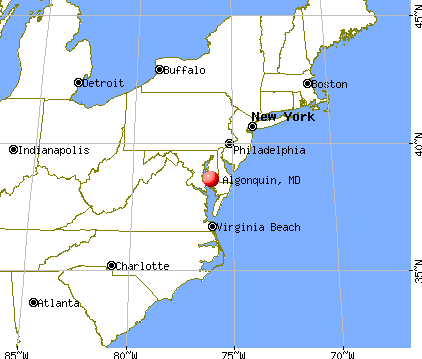 Algonquin, Maryland map