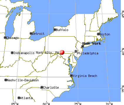 Mont Alto, Pennsylvania map