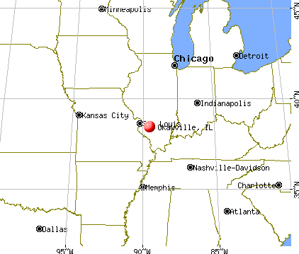 Okawville, Illinois map