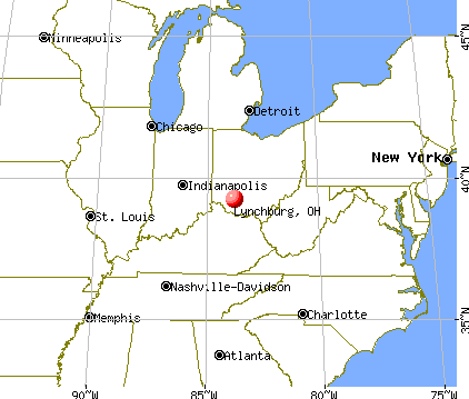 Lynchburg, Ohio map