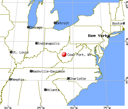 Coal Fork, West Virginia map