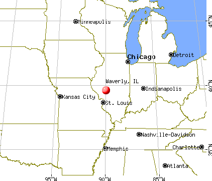 Waverly, Illinois map