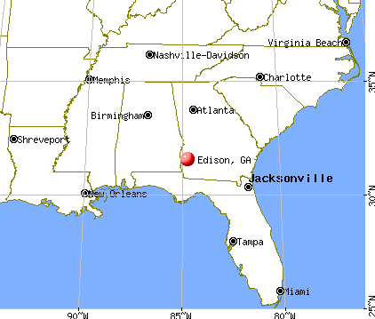 Edison, Georgia map