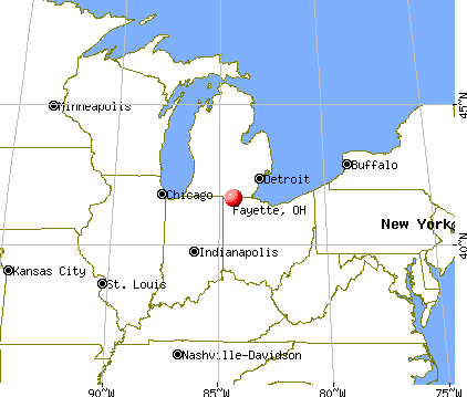 Fayette, Ohio map