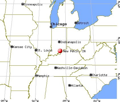 New Pekin, Indiana map