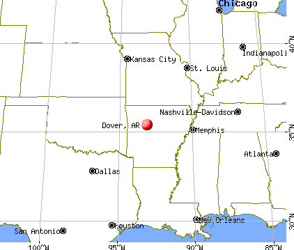 Dover, Arkansas map