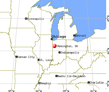 Remington, Indiana map