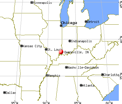 Owensville, Indiana map