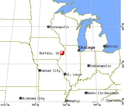 Buffalo, Iowa map