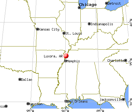 Luxora, Arkansas map