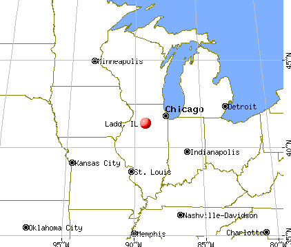 Ladd, Illinois map