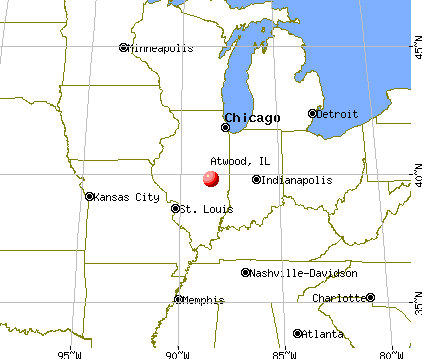 Atwood, Illinois map