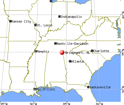 Bridgeport, Alabama map