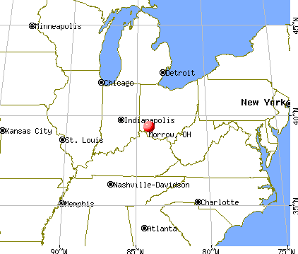 Morrow, Ohio map