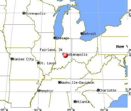 Fairland, Indiana map
