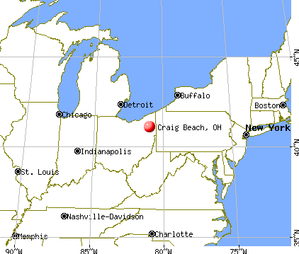 Craig Beach, Ohio map