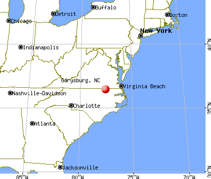 Garysburg, North Carolina map