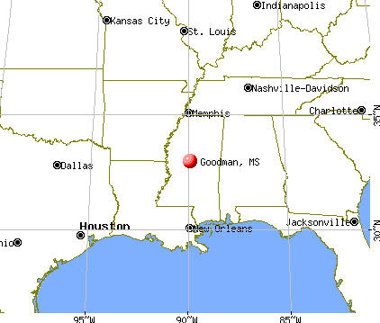 Goodman, Mississippi map