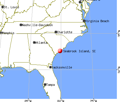 Seabrook Island, South Carolina map