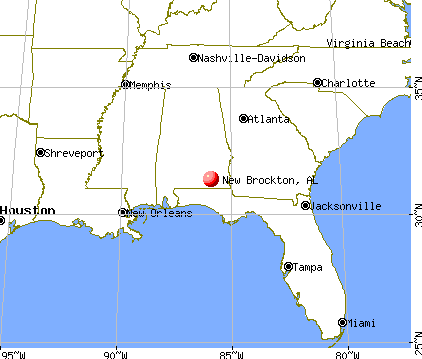 New Brockton, Alabama map