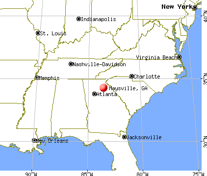 Maysville, Georgia map