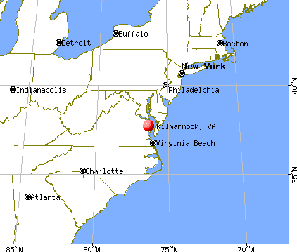 Kilmarnock, Virginia map