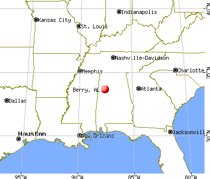 Berry, Alabama map
