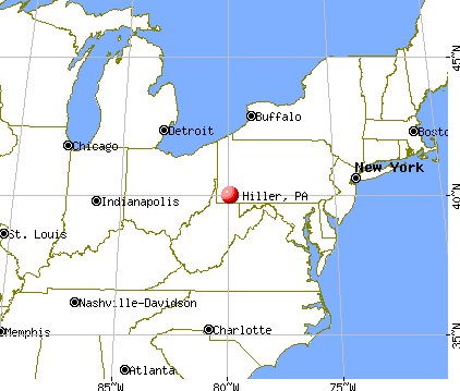 Hiller, Pennsylvania map