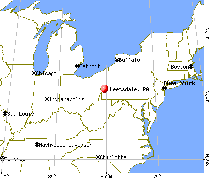 Leetsdale, Pennsylvania map