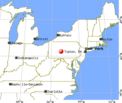 Tipton, Pennsylvania map