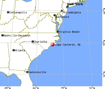 Cape Carteret, North Carolina map