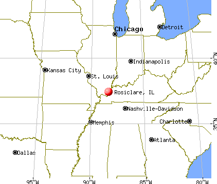 Rosiclare, Illinois map