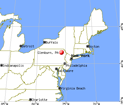 Glenburn, Pennsylvania map